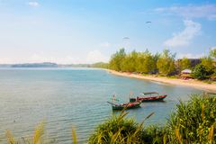 Sokha Beach sokha hotel sokha resort in sihanoukville province. Sokha is a beautiful beach with its one-kilometer crescent and comparatively wide so that there stock images