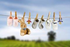 Sokken en konijn Stock Fotografie