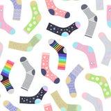 Sokken naadloos patroon stock illustratie