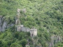 Soko Grad, cidade velha, fortaleza, cidade medieval, Sérvia foto de stock