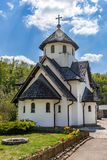 Soko Monastery est? situado debajo de Soko Grad fotos de archivo libres de regalías