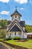 Soko Monastery ? ficado situado abaixo de Soko Grad imagem de stock
