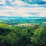 Sokobanja. Woods landscape sky beautiful Stock Images