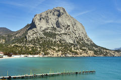 Sokol (Falcon) mountain in Crimea Royalty Free Stock Image