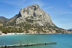 Sokol (Falcon) mountain in Crimea Royalty Free Stock Image