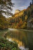 Sokolica and Dunajec. Sokolica mountain and Dunajec river at Pieniny, National Park, Slovakia Royalty Free Stock Images