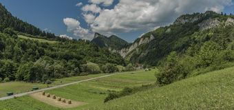 Sokolica hill from Lesnica village Stock Photography