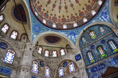 Sokollu穆罕默德巴夏清真寺,伊斯坦布尔,土耳其内部  免版税库存照片