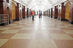 Sokolnicheskaya line - the first line of the Moscow metro Stock Photo