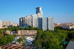 The Sokolniki district in the center of Moscow, Russia Royalty Free Stock Photography