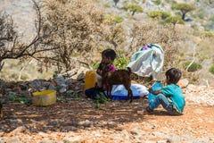 Sokotra的,也门人们 库存图片