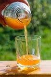 soku jabłczany świeży dolewanie Obrazy Stock