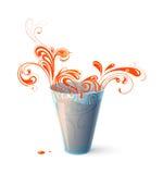 Soku pomarańczowego chełbotanie Obrazy Royalty Free