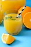 Soku pomarańczowego czas Zdjęcie Royalty Free