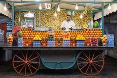 Soku pomarańczowego kram Zdjęcie Stock