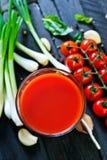 soku pomidor Zdjęcia Stock