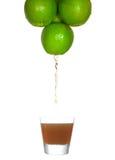 Soku spływanie od jabłka Zdjęcie Stock