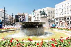 Sol正方形在马德里西班牙 免版税图库摄影