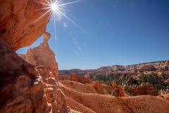 Sol över Bryce Royaltyfri Fotografi