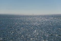 Sol över det holländska Wadden havet Royaltyfri Fotografi