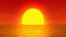 Sol över vattnet stock illustrationer