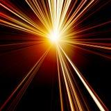 Sol abstrato vermelho ardente Imagem de Stock Royalty Free