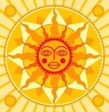Sol alaranjado Imagem de Stock