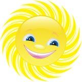 Sol alegre ilustración del vector