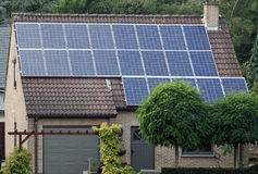 sol- alternativ energi Arkivbilder