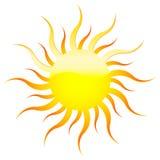 Sol amarelo ilustração stock