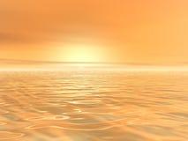 Sol amarelo na névoa Fotos de Stock Royalty Free