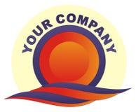 Sol & água do logotipo Fotos de Stock Royalty Free