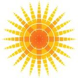 Sol anaranjado artístico Imágenes de archivo libres de regalías
