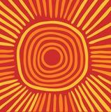 Sol australiano ilustración del vector