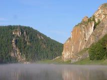 Sol av berget och havet royaltyfria bilder