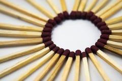 Sol av matchsticks Fotografering för Bildbyråer
