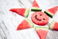 Sol av vattenmelon Arkivfoto