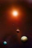 sol- avståndssystem royaltyfri illustrationer