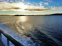 Sol bajo Escocia del mar Fotografía de archivo libre de regalías