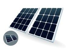 sol- batteri Arkivbilder