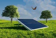 sol- batteri Arkivfoto