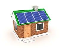 sol- batteri Arkivbild