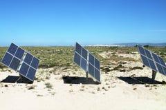 sol- batterier Fotografering för Bildbyråer