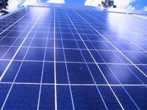 sol- blå panel Arkivbild