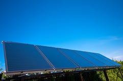 sol- blåa paneler Royaltyfri Fotografi