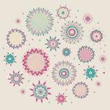 Sol-blomma-runda Arkivfoto