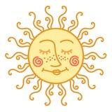 Sol bonito do vetor Ilustração Fotografia de Stock Royalty Free