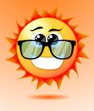 Sol bonito dos desenhos animados Imagens de Stock