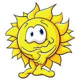 Sol bonito dos desenhos animados Imagens de Stock Royalty Free