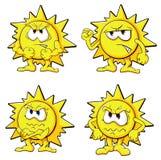 Sol bonito dos desenhos animados Foto de Stock Royalty Free